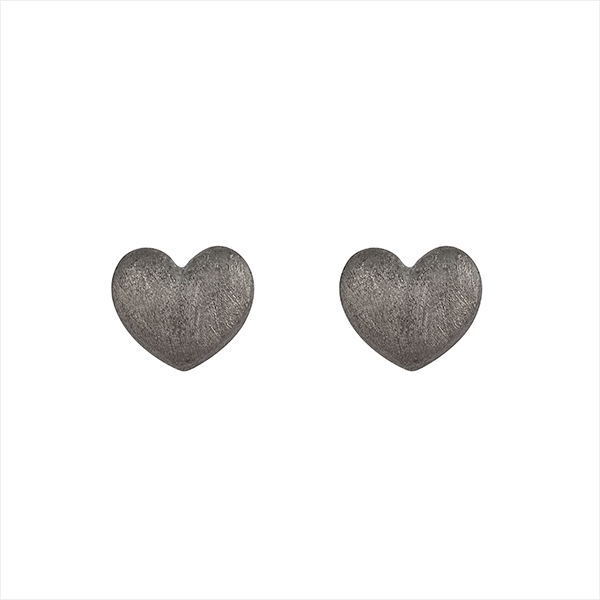 Miss Love Heart, earring - dark silver