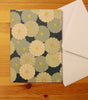 Japanese Style Card, Blue Flower