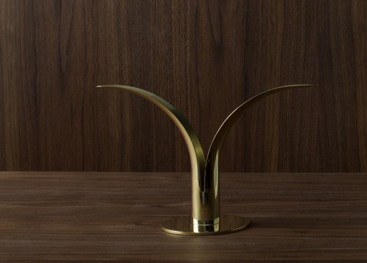 The Lily candlestick, brass