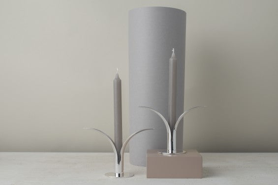 The Lily candlestick, silver plated brass