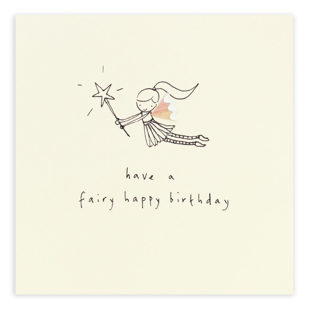Pencil Shavings Card, Birthday Fairy