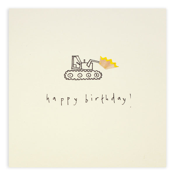 Pencil Shavings Card, Birthday Loader