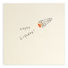 Pencil Shavings Card, Birthday Rocket