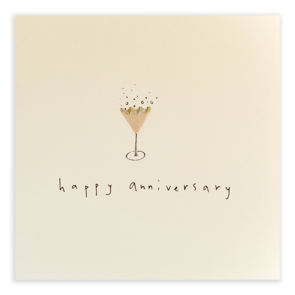 Pencil Shavings Card, Anniversary Fizz