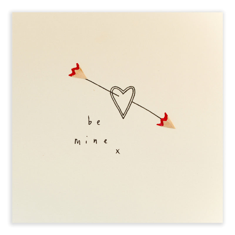 Pencil Shavings Card • Be Mine