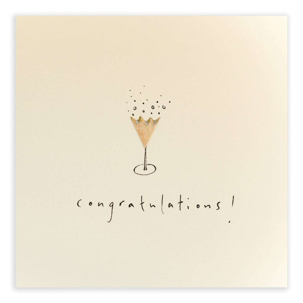 Pencil Shavings Card, Champagne