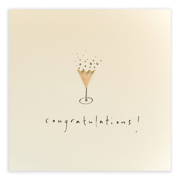 Pencil Shavings Card • Champagne