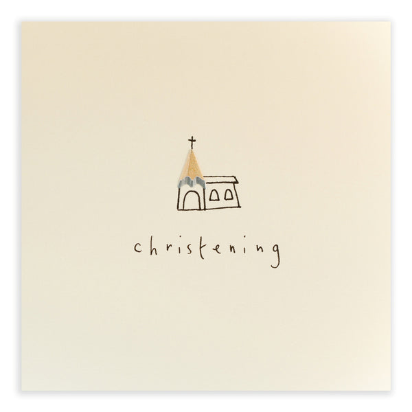 Pencil Shavings Card, Christening Church
