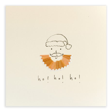 Pencil Shavings Card, Christmas Beard