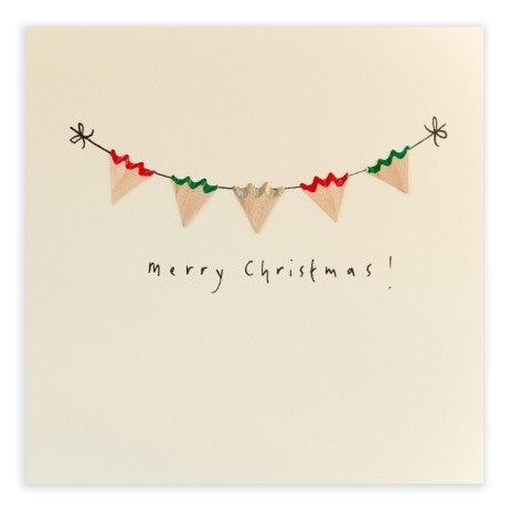 Pencil Shavings Card, Christmas Bunting