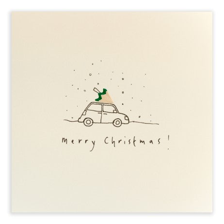 Pencil Shavings Card, Christmas Car