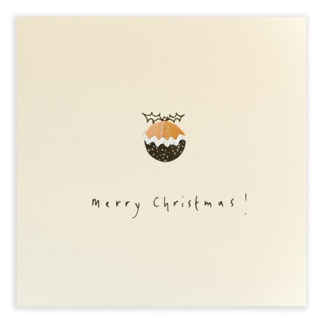 Pencil Shavings Card, Christmas Pudding