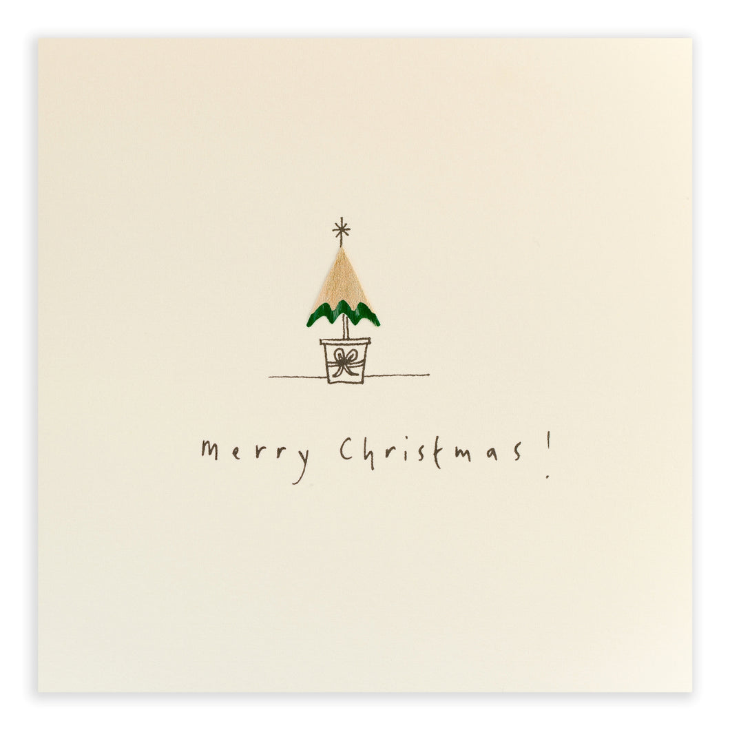 Pencil Shavings Card, Christmas Tree