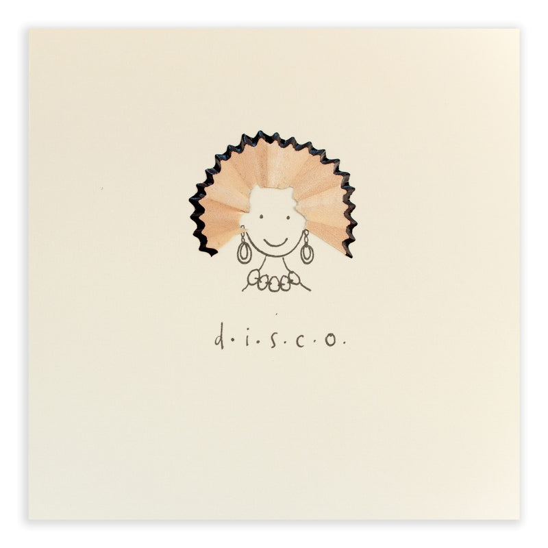 Pencil Shavings Card • Disco