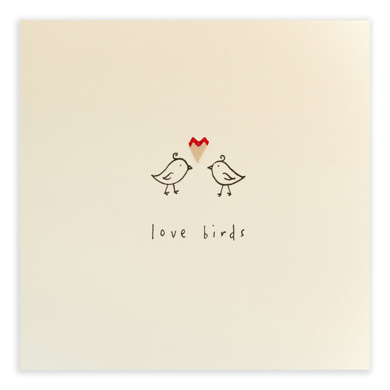 Pencil Shavings Card • Turtelduer/Love Birds