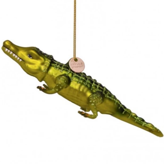 crocodile • glass ornament