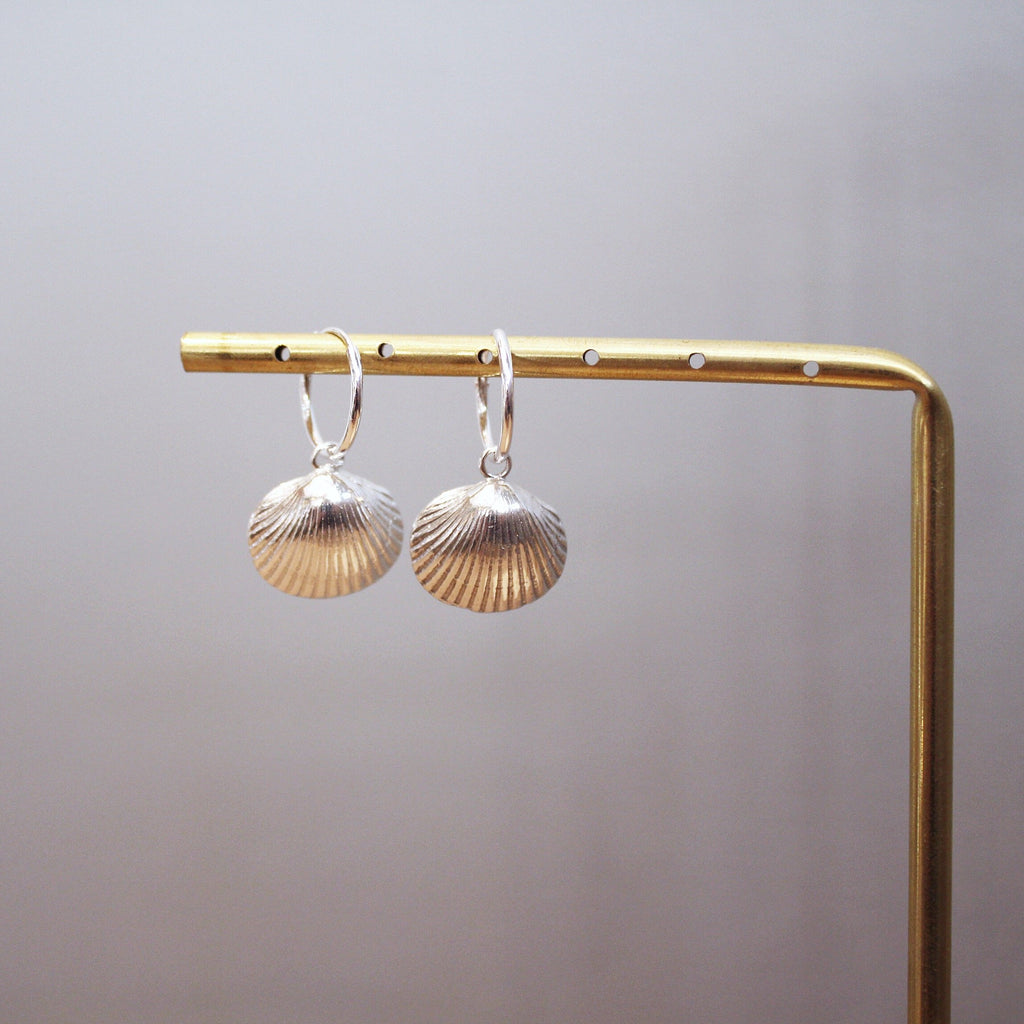 Shell earrings - silver