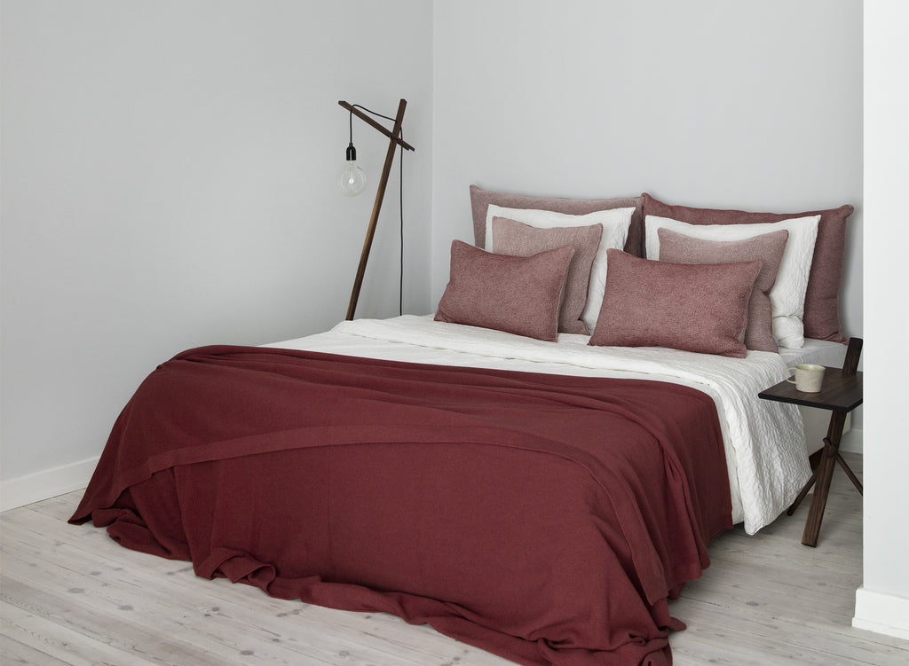 SeedStitch bedspread, rust - two sizes available