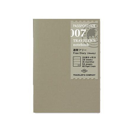 Passport size Refill 007 Free Diary weekly • Traveler's notebook