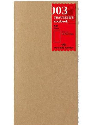Refill 003 Blank papir • Traveler's notebook