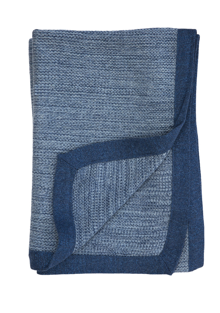 TweedStitch blanket, blue