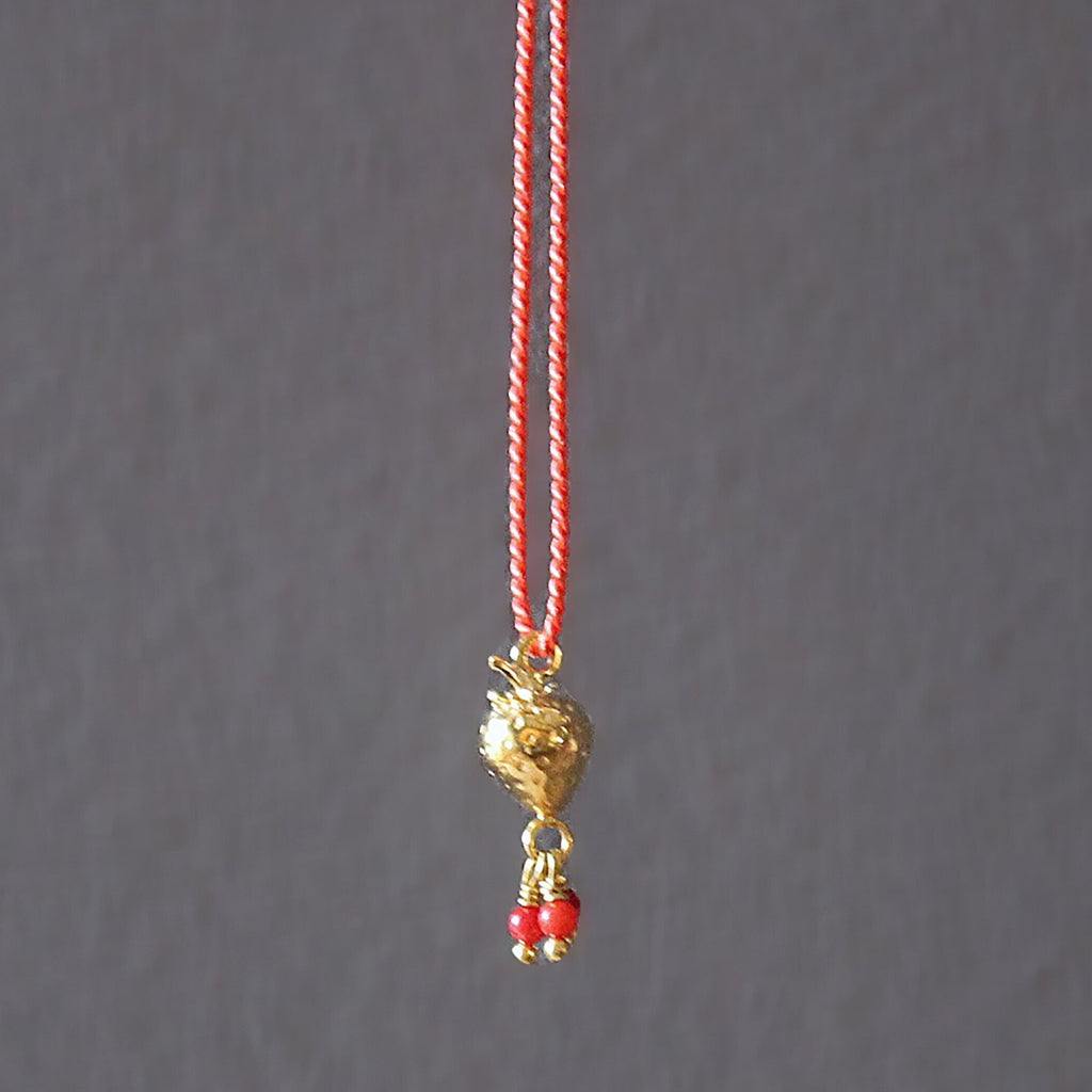 strawberry necklace - GOLD