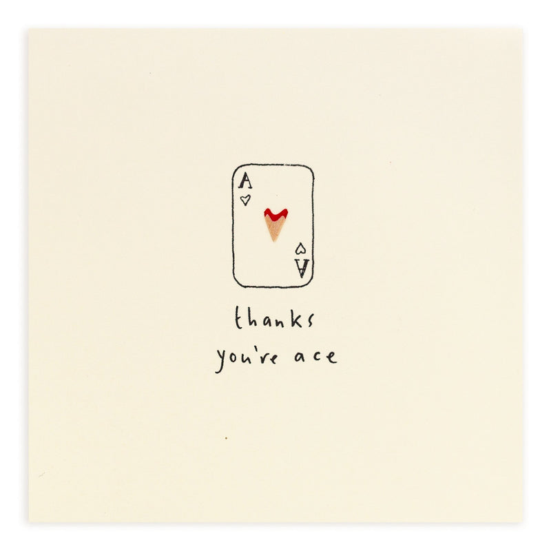 Pencil Shavings Card • You're Ace