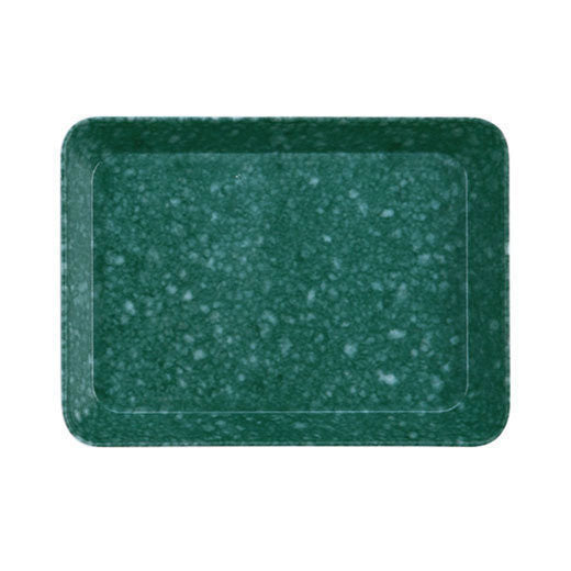 Marbled Melamine Desk Tray, green (M)
