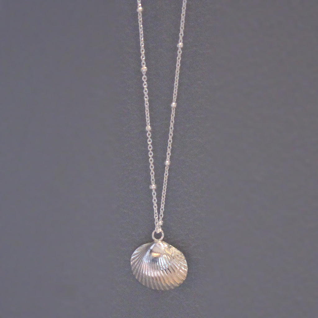 Shell necklace - silver
