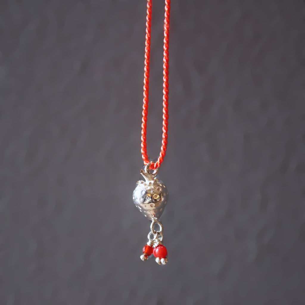 strawberry necklace / SILVER