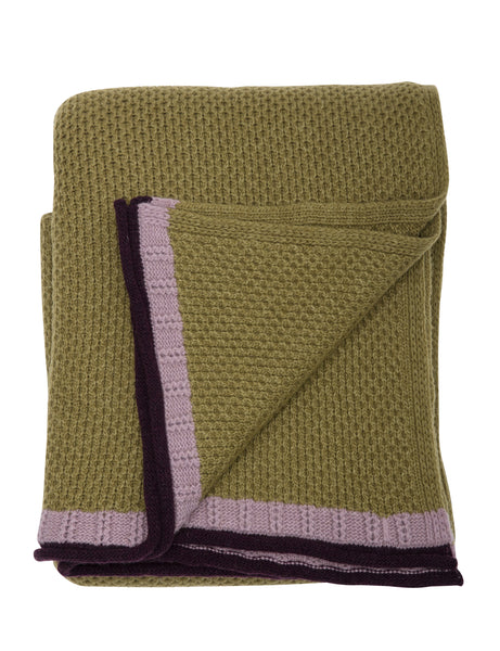 HoneyComb blanket, moss green