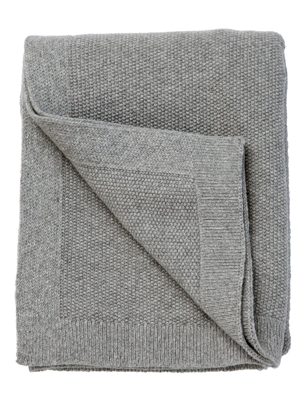 SeedStitch blanket, light grey/silver