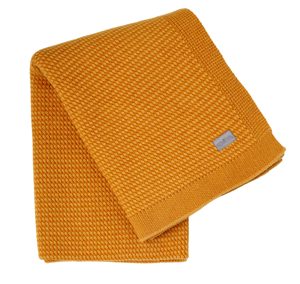 Basket Weave blanket, yellow