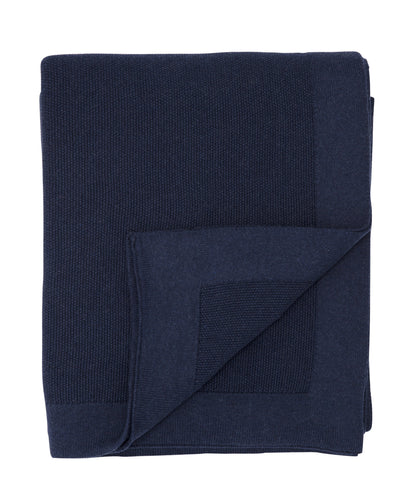 SeedStitch bedspread, dark blue - two sizes available