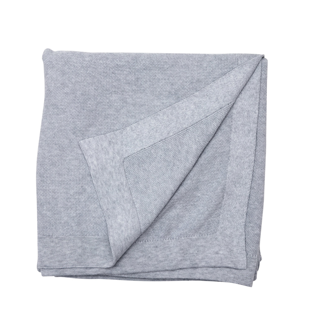 SeedStitch bedspread, light grey - two sizes available