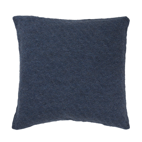 Diagonal Stripes cushion, blue