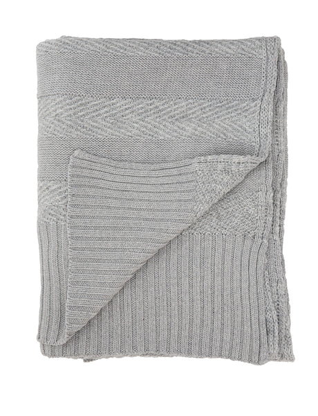 Tactile Stripes blanket, grey