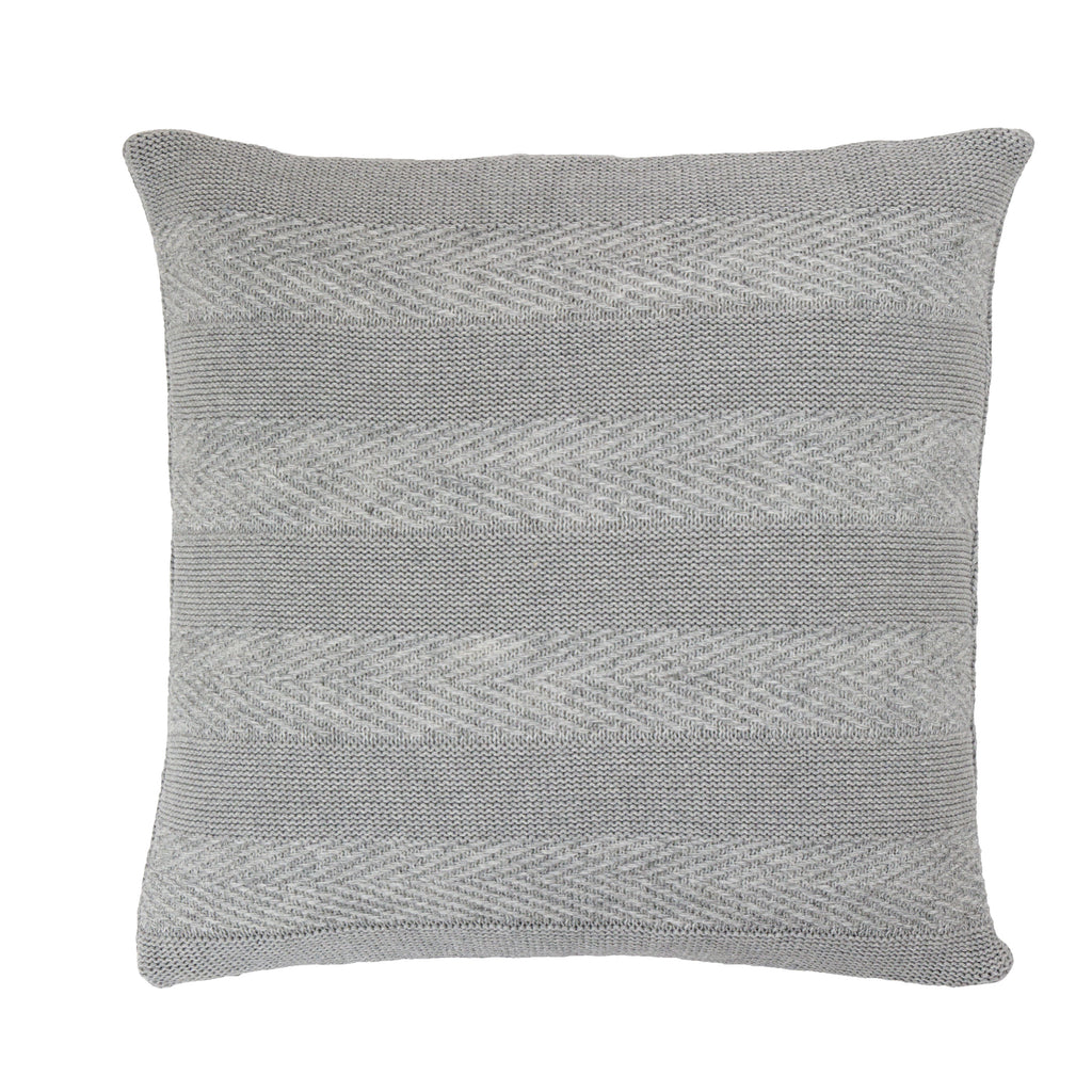 Tactile Stripes cushion, light grey