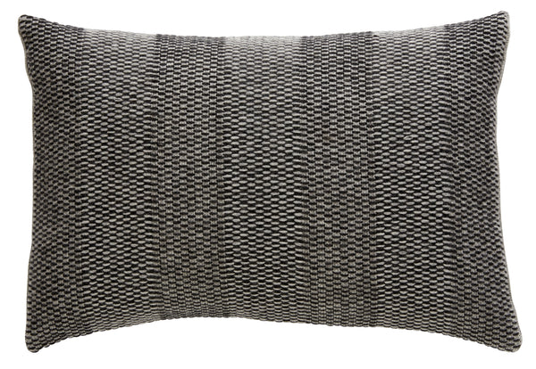 Weave Knit cushion, grey/charcoal