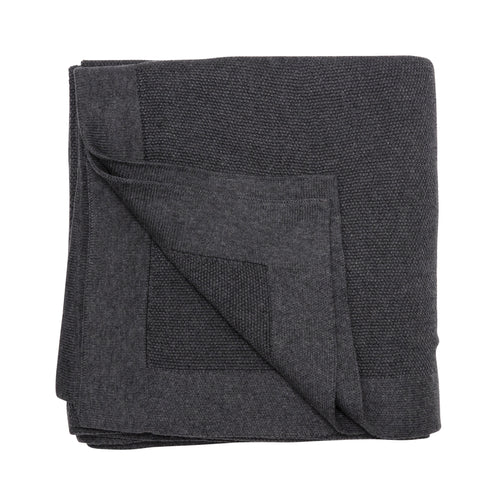 SeedStitch bedspread, charcoal - two sizes available