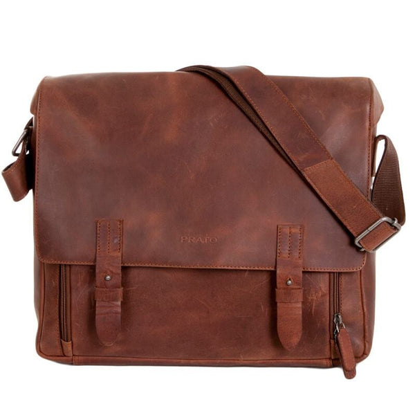 Prato Messenger Bag H61-L-Arizona Messenger bag Prato Leder Meid Leder Meid