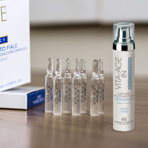Linfting cuello y escote + ampollas hyaluronic de regalo