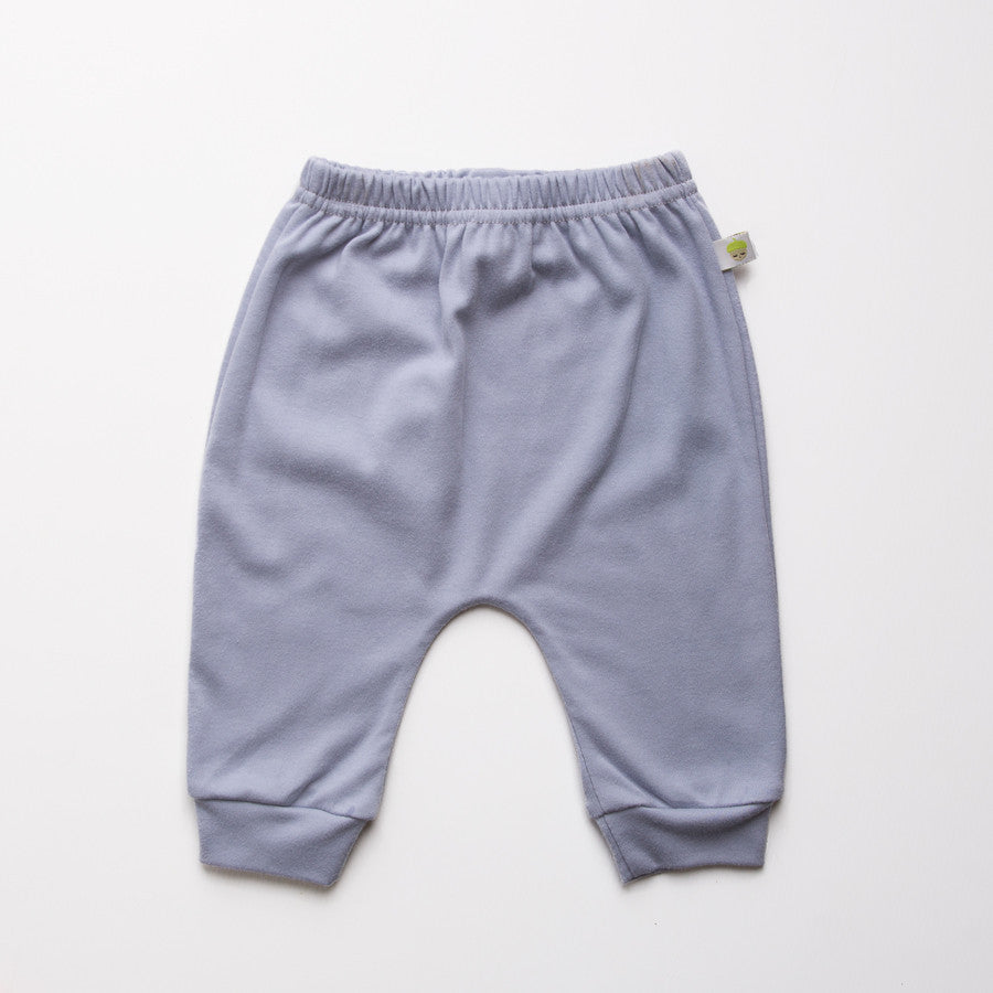 Grey cotton baby leggings. unisex. Made in the UK