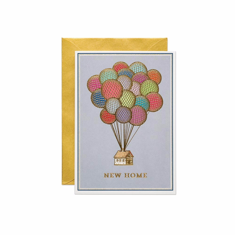 New home greetings card. Made with sustainable card. Made in the UK