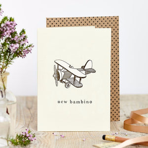 New baby greetings card. Made in the UK. Made from sustainable card
