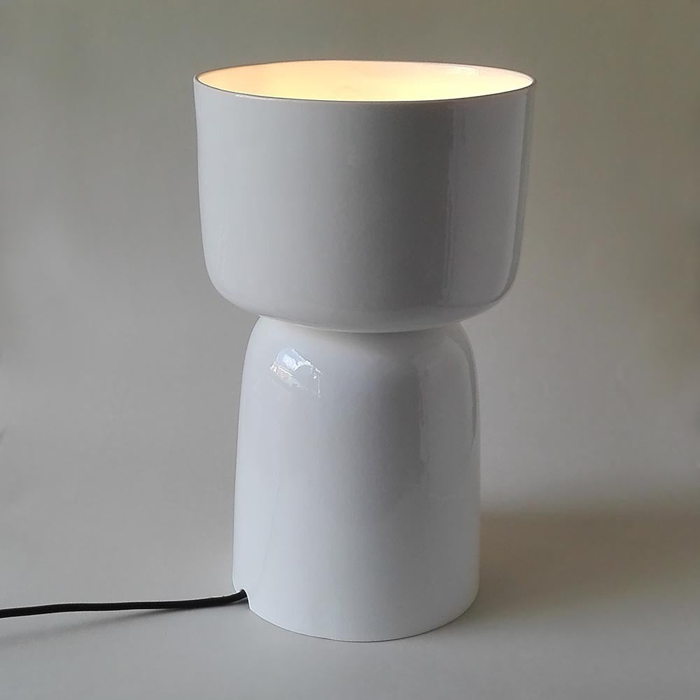 Bone china lamp. Made in the UK