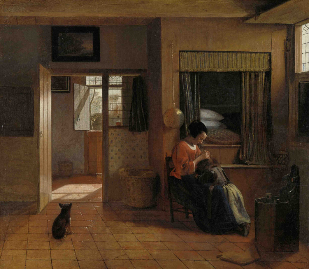 Pieter de Hooch, A Mother Delousing her Child's Hair