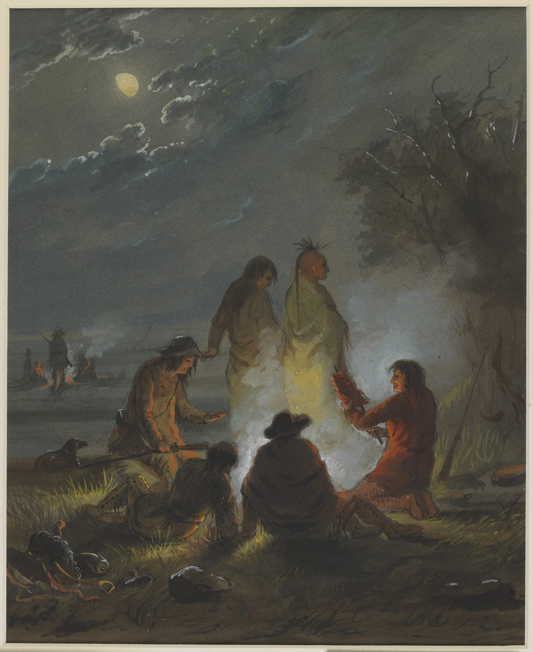 Alfred Jacob Miller, Campfire