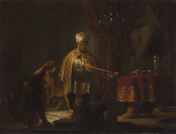 Rembrandt, Daniel and Cyrus Before the Idol Bel
