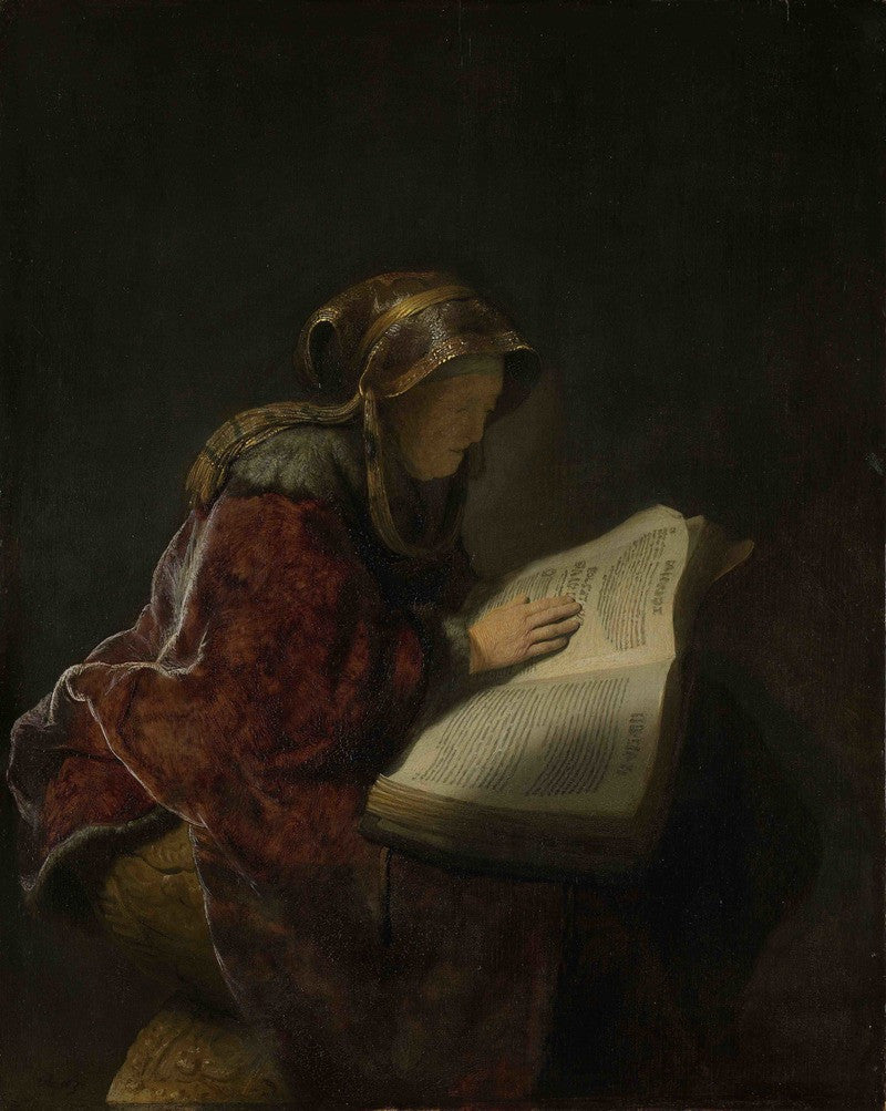 Rembrandt, An Old Woman Reading